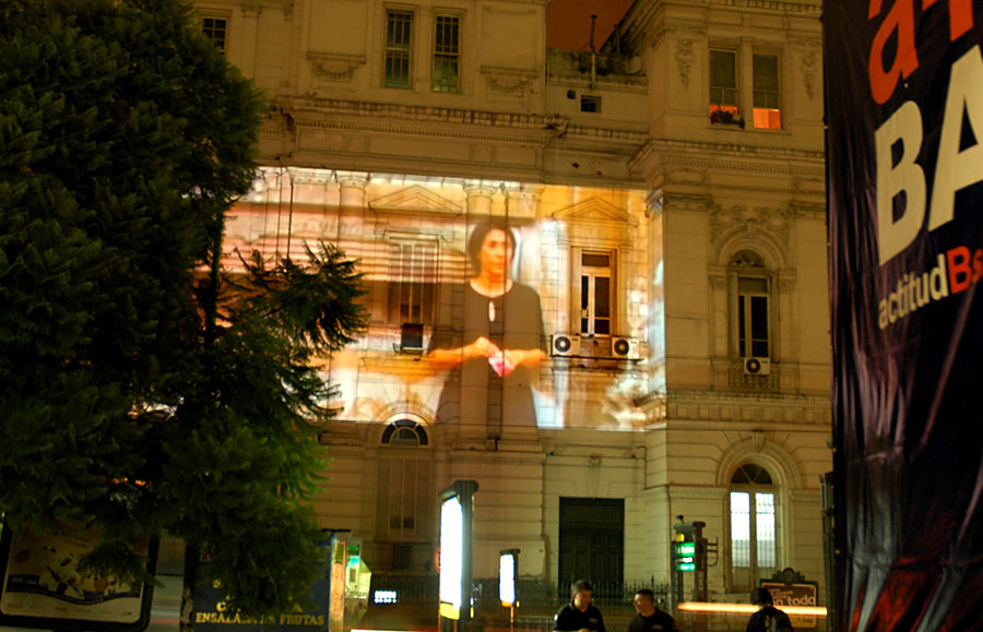 Projection in public space