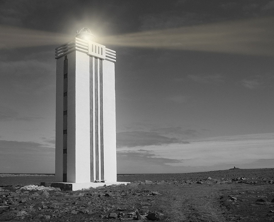 Hraunhafnartangi Lighthouse. Iceland